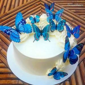 Торт з метеликами